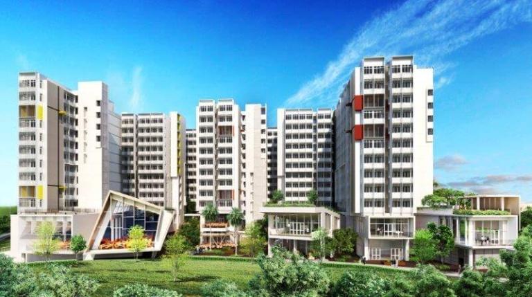 So könnte die Wohnsiedlung aus dem 3D-Drucker aussehen (Foto © Nanyang Technological University, Singapur)