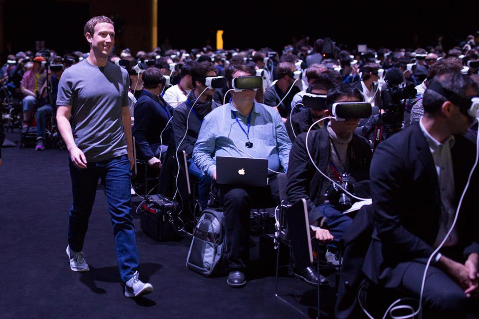 Mark Zuckerberg bei einer Samsung-Keynote in Barcelona (Foto Facebook)