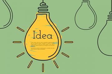 Glühbirne mit Idea - Keine Angst vor dem Ideenklau - Startups