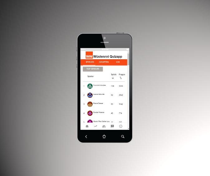 Die Quiz-App von Wüstenrot zur Außendienstschulung (Foto: keeunit)