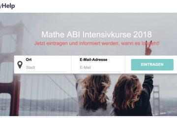 StudyHelp Startseite Screenshot
