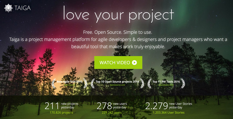 taiga-io Projektmanagement Startups
