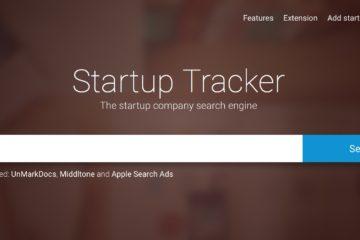 Startupsuchmaschine Startuptracker