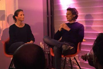 Verena Pausder im Founders Talk mit Sebastian Borek (Foto: Hanna Drabon)
