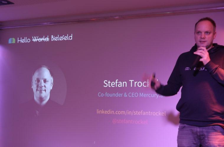 Chatbots fuer Startups - Stefan Trockel Mercury-ai Vortrag im Pioneers Club