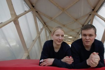 Tech TIny House Team Brendan und Sina