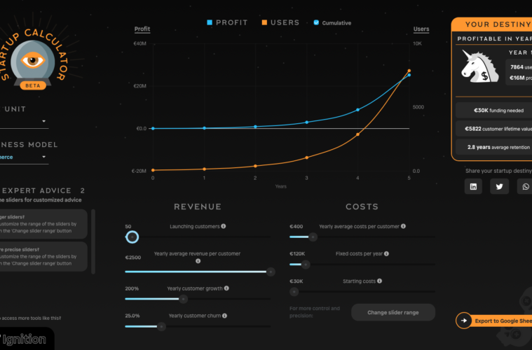 Startup Calculator Lead Generation