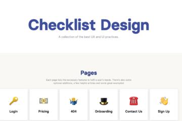 checklist.design Startseite Design Checklisten für Startups